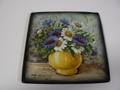 イタリア製 ITA-LICA ARS 飾り皿 黄色花瓶 新品 定価19000円