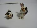 昭和レトロ 犬の陶器置物2個セット 中古