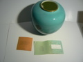 宮内庁御用達 深川製磁(有田) 色絵彩磁 花瓶 新古品