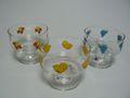 昭和レトロ カキ氷グラス3客 ササキガラス