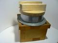 古道具 アルミ製つば釜 中古 蓋、台付き かまど炊き用