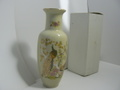 九谷焼 孔雀花瓶 新品 長期保管品