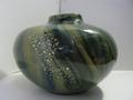 マーブルガラス花瓶 気泡あり 中古