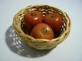 りんごの蝋細工(キャンドル) かご付き 未使用保管品