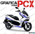 グラフィック デカール HONDA PCX125/150 RACING CARENE ブルー