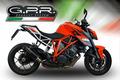 イタリア GPR / Furore Nero スリップオン マフラー 公道仕様 / KTM 1290 スーパーデュークR SUPERDUKE 2014-2016 KTM.78.FUNE