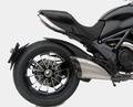 ZARD SS/CF/RACE スリップオン マフラー ステンレス(シルバー) カーボンエンド 競技走行専用 Ducati Diavel 10- ZD117SSRFC