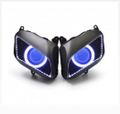 Demoneyes デーモンアイ HID プロジェクター LED ヘッドライトユニット ブルー ホンダ CBR600RR 2007-2012