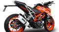 イタリア GPR / ALB ホワイト  スリップオンマフラー  / KTM DUKE デューク 390 2017-  /KTM.87.ALB
