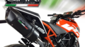 イタリア GPR / FURORE NERO (FUNE) ブラック スリップオン マフラー ハイマウント / KTM デューク 125 Duke 125 2017- KTM.60.FUNE