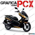 グラフィック デカール HONDA PCX125/150 RACING CARENE オレンジNE