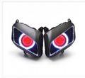 Demoneyes デーモンアイ HID プロジェクター LED ヘッドライトユニット レッド ホンダ  CBR600RR 2007-2012