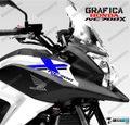 グラフィック デカール HONDA NC700X RACING  ブラック ブルー