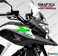 グラフィック デカール HONDA NC700X RACING  ブラック グリーン