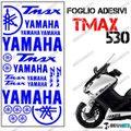 グラフィック デカール TMAX530 KIT FOGLIO  ブルー