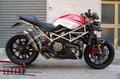 FF by Fresco フレスコ Complet line Racing 45 ハンドメイド フルエキ マフラー Ducati ドゥカティ モンスター S4R/RS 998 2006-2008 即納特価在庫品