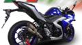 イタリア GPR / THUNDERSLASH(TH) スリップオン マフラー / YAMAHA ヤマハ YZF-R3 / YZF-R25 / MT-03 / MT-25 2015- Y.193.TH
