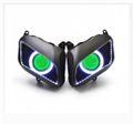 Demoneyes デーモンアイ HID プロジェクター LED ヘッドライトユニット グリーン ホンダ CBR600RR 2007-2012