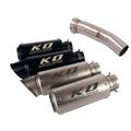 KO Lightning / 245mm/300mm Type:A~H スリップオン マフラー / KTM デューク790 2018-