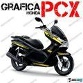 グラフィック デカール HONDA PCX125/150 RACING CARENE ゴールド