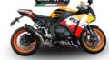 イタリア GPR FURORE NERO ショートレーシング スリップオン マフラー CBR1000RR 14- (競技走行専用) H.242.RACE.FUNE