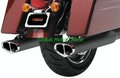 COBRA TRI-OVAL Black スリップオン マフラー ツーリング   6210B