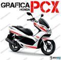 グラフィック デカール HONDA PCX125/150 RACING CARENE レッド ADESIV