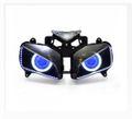 Demoneyes デーモンアイ HID プロジェクター LED ヘッドライトユニット ブルー ホンダ CBR1000RR 2004-2007