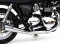 ZARD 公道仕様 触媒付 ステンレス スポーツスチール クロームエフェクト フルエキゾーストマフラー TRIUMPH Scrambler 900 Thruxton 900 /SE Bonneville  (キャブレ車 & インジェクション車)