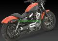 バンス&ハインズ RSD TRACKER 2 IN 1 マフラー XLスポーツスター 07-12   11805