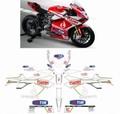 カスタム グラフィック デカール ステッカー 車体用 / ドゥカティ Ducati 899 / 1199 1299 パニガーレ / WORLD SBK 2013 REPLICA レプリカ