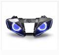 Demoneyes デーモンアイ HID プロジェクター LED ヘッドライトユニット ブルー ヤマハ YZF-R6 2008-2016