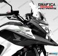 グラフィック デカール HONDA NC700X RACING  ブラック シルバー