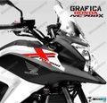 グラフィック デカール HONDA NC700X RACING  ブラック レッド