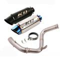 KO Lightning / 245mm/300mm Type:A~F スリップオン マフラー 触媒除去 / KTM デューク125/250/390 RC390 2017-