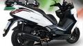イタリア G.P.R 4 Road Street フルエキゾースト マフラー KYMCO DOWNTOWN 350 2015- (競技走行専用)