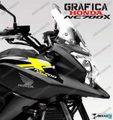 グラフィック デカール HONDA NC700X RACING  ホワイト イエロー