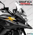 グラフィック デカール HONDA NC700X RACING  ホワイト ゴールド