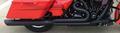 D&D Billet Cat 2:1 Black Full System Black 30 Angle Cut End Harley Touring 2-1 フルエキゾーストマフラー ハーレー ツーリングモデル 09-16 15%馬力向上