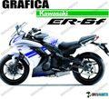 グラフィック デカール Ninja400 11-13  ブルー