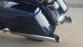 D&D 3.5インチ 30 Degree Angle カット クローム Vortexバッフル 二本出し スリップオンマフラー ハーレー ツーリングモデル 95-16