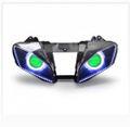 Demoneyes デーモンアイ HID プロジェクター LED ヘッドライトユニット グリーン ヤマハ YZF-R6 2008-2016