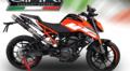 イタリア GPR / DEEPTONE CARBON(DC) カーボン スリップオン マフラー ハイマウント / KTM デューク 125 Duke 125 2017- KTM.60.DC