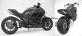 ZARD スリップオン マフラー ステンレス(黒) アルミエンド 競技走行専用 Ducati Diavel 10- ZD117SSR-B