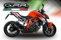 イタリア GPR / GPE Black チタニウム スリップオン マフラー 公道仕様 / KTM 1290 スーパーデュークR SUPERDUKE 2014-2016 KTM.78.GPEBLT