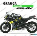 グラフィック デカール Ninja400 11-13  イエロー