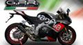 GPR GPE EVO POPPY(GPEPO)カーボンルックサイレンサー(触媒付き公道仕様) スリップオン マフラー Aprilia RSV4 RF 2016-