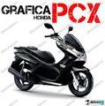 グラフィック デカール HONDA PCX125/150 RACING CARENE シルバー