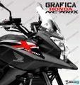 グラフィック デカール HONDA NC700X RACING  ホワイト レッド