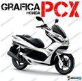 グラフィック デカール HONDA PCX125/150 RACING CARENE ホワイト